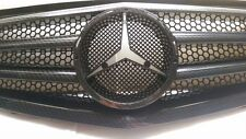 DHL- NEW For Mercedes E Class W211 2007-2009 Grille (No Benz Logo) - Carbon Look