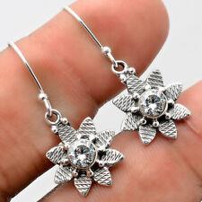 White Zircon 925 Sterling Silver Earrings Jewelry 8888