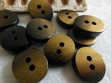 lot 6 Boutons vintage ovale noir doré  reflet or épais  1,8 sur 2,1 ref 1918