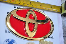 Toyota Rear Boot Car Badge Hilux Camry Altis Universal Red 24K Gold Plated