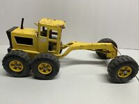 VTG 1970's TONKA MR-970 Road Grader Metal Yellow Construction Toy Vehicle AS-IS