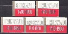"""POLAND 1960 Matchbox Label - Cat.Z#181 Grunwald 1410-1960, """"550 an. Battle ..."""""""