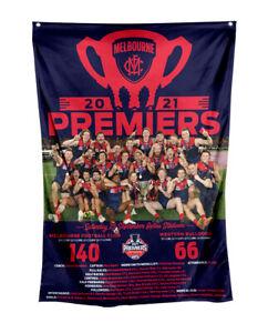 AFL MELBOURNE DEMONS 2021 PREMIERS TEAM PHOTO WALL FLAG - PRE ORDER