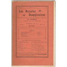 ANNALES DAUPHINOISES St MAURICE de VIENNE et A.-C. ZACHARIE Peintre Juillet 1900