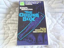 THE OBLONG BOX VHS EDGAR ALLAN POE GOTHIC HORROR VINCENT PRICE CHRISTOPHER LEE
