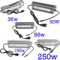 24v power supply Driver waterproof 36w 50w 72w 96w 150w 250w for LED Light DC