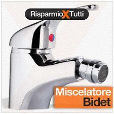 MISCELATORE BIDET RUBINETTO LAVABO BAGNO CROMATO MONOCOMANDO CON FLESSIBILI