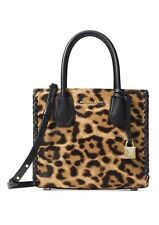 MICHAEL KORS Mercer Leopard Calf Hair Crossbody Butterscotch with Dustbag BNWT