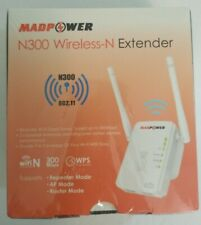 Madpower Wifi Extender N300 Wireless-N Signal Range Booster 300mbps 802.11 NEW