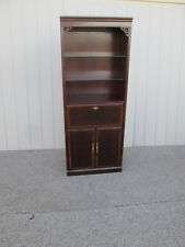 58027   DREXEL Banded Mahogany Liquor Cabinet Bar Bookcase Curio Cabinet