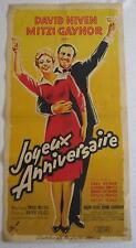 french movie poster  Happy Anniversary / Joyeux anniversaire  Mitzi Gaynor