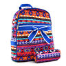 New Women Quilted Cotton Backpack Book Bag Travel Rucksack Schoolbag Bow Aztec