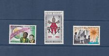 Belgium 1966 Rerum Novarum Set MVLH SG1959-61