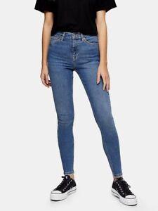 "BNWT Woman's Jamie Frayed Hem Jeans-mid Blue Size 8 - waist 26"" x leg 28"""