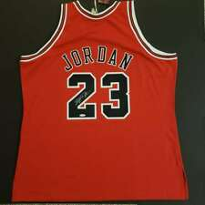 "Michael Jordan Signed Jersey Chicago Bulls ""RED"" Official NBA Finals UDA"