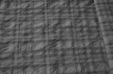 Hemdenstoff grau kariert Baumwolle-Mischung Karo Stoff #0258