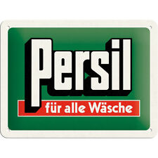 """Persil - for all Laundry ""Vintage Advertising 50s Metal Sign 15cm x 20cm rockabi"