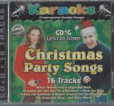 KARAOKE CHRISTMAS PARTY SONGS Kids Deck The Halls Winter Wonderland RARE NEW  CD
