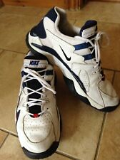 Vintage Men's Nike Air Screech Cross Trainers - Size 11 - White & Blue with Box