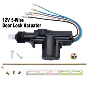 5-Wire Car Door Lock Slave Motor Solenoid Central Locking Entry Actuator Kit