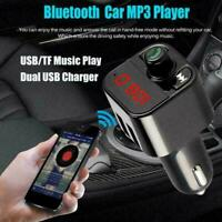 Bluetooth Wireless FM Transmitter Car Radio MP3 Player Kit C4V4 USB Ch Hand U5L6