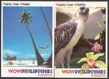 (RP02A) PHILIPPINES - 2002 PREPAID POSTAL CARDS x8 - WORLD WONDERS. UNUSED
