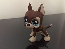 Littlest Pet Shop GREAT DANE Dog #817 Brown Star Eyes original  LPS USA Seller
