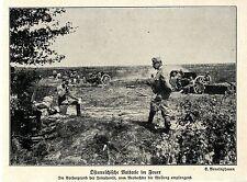 1914 Kampf um Lemberg * Österreichische Batterie im Feuer *  WW1