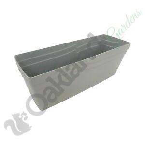 49cm Self Watering Stone Grey Boston Window Box Coloured Planter Plant Pot