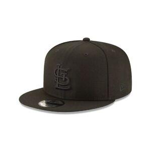St. Louis Cardinals New Era 9Fifty Black on Black Logo Field Snapback Hat Cap