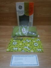 VINTAGE GE HEATING PAD AUTOMATIC GREEN RETRO FLORAL COVER 3 SETTINGS Free Ship