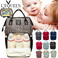 LEQUEEN Mummy Maternity Baby Nappy Diaper Bag Nursing Handbag Travel Backpack