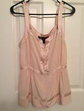 MARC JACOBS Light Pink / Blush 100% silk blouse top Sz. 6 - Excellent Condition