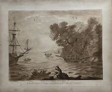 RICHARD EARLOM (1743-1822) DUKE OF DEVINSHIRE - SHIPS COAST - 1776 MEZZOTINT