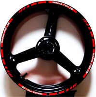 3M REFLECTIVE RED GP STYLE RIM STRIPES WHEEL DECALS TAPE STICKERS YAMAHA YZF R3