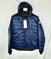 New Canada Goose Lodge Packable Down Fill Jacket Puffer Blue Men's XL Hoodie