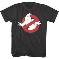 OFFICIAL Ghostbusters Men's T-shirt No Ghost Logo Cartoon TV Show