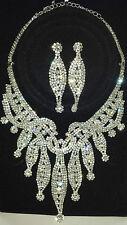 Diamante set - Diamante Necklace & earrings set wedding prom set 18