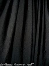 Dance Costume Lycra Fabric Black Shiny Nylon Spandex 50cm - 150cm wide