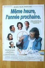 AFFICHE - MEME HEURE, L'ANNEE PROCHAINE JEAN ROCHEFORT