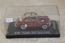 N861 SOLIDO 4547 1/43 PEUGEOT 203 DECOUVRABLE marron Nf