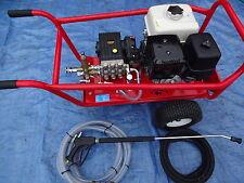 PRESSURE WASHER ELECTRIC START GX390 HONDA 13HP PETROL 200BAR @ 21LTRS TWIN FEED