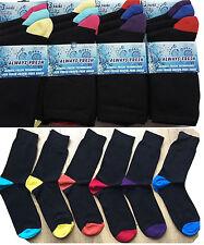 6 paire pack hommes noir couleur bout et talon bio fresh chaussettes taille 6-11