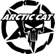 Arctic Cat skull star snowmobile decal vinyl window sticker