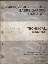 JOHN DEERE SABRE GARDEN TRACTORS TM 1741 TECHNICAL SERVICE MANUAL (469)