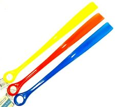 "2 Plastic Shoehorns 18.5"" Extra Long Large Shoe Horn Handle Sturdy Flexible New"