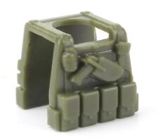 Tac Green P1 (W297) Tactical Army Vest compatible with toy brick minifigs SWAT