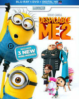 Despicable Me 2 (Blu-Ray + DVD + Digital HD) NEW Sealed Bluray