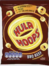 Hula Hoops Box of 32 x 34g BBQ Beef , ORIGINAL