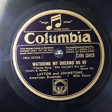 78rpm LAYTON & JOHNSTONE watching my dreams go by / dancing wth tears in my eyes